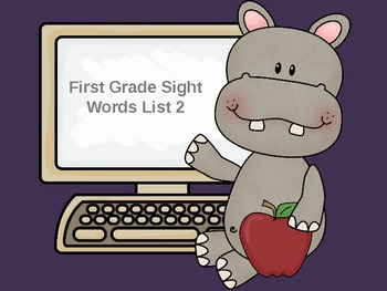 First Grade Sight Words PowerPoint List 2!  Please leave f