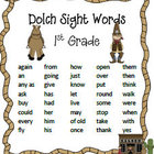 First Grade Sight Words from the Wild West