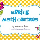First Grade Spring Math Centers