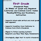 First Grade Standards Maps-California Literacy Standards a