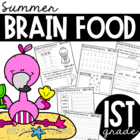 First Grade Summer Brain Food