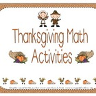 First Grade Thanksgiving Math Activities