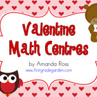 First Grade Valentine Math Centers