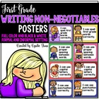 First Grade Writing Non-Negotiables Posters