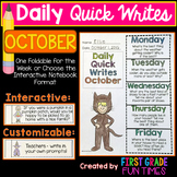 WRITING - October Quick Writes