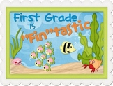 "First Grade is ""Fin""tastic Poster"