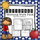 First Grade September  Morning Work Pack