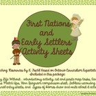 First Nations/Early Settlers Activities