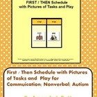 First / Then Schedule with Pictures