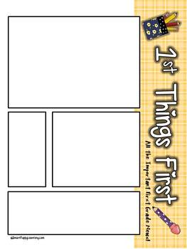 """First Things First School Edition"" First Grade Newsletter"