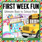 First Week Fun! Back to School Unit