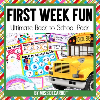 Back to School: First Week Fun!