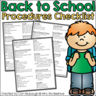 Back to School Procedures Checklist