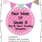 First Week of Grade Three with Tina's Teaching Treasures