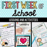 First Week of School Activity Packet for First Grade