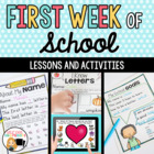 First Week of School Activity Packet for Grade One