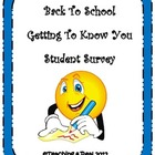 First Week of School Forms: Getting to Know You