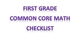 First grade Common Core Math Checklist