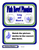 Fish Bowl Phonics - Short/Long U File Folder Game