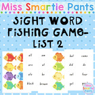 Fish Mania Dolch Sight Word Fishing Game List 2
