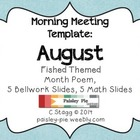 Fish Themed AUGUST morning Meeting slides