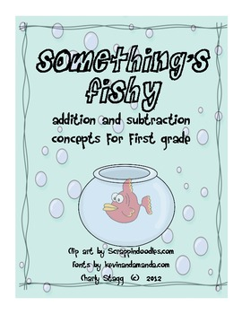 Fish Themed addition, subtraction, graphing, math activities