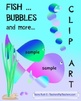 Fish and Bubbles Clipart