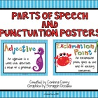 Fish or Ocean Themed Parts of Speech and Punctuation Posters