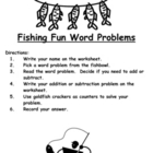 Fishing Fun Addition and Subtraction Word Problems