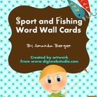 Fishing and Sports Word Wall Vocabulary Set