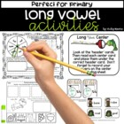 Fishing for Long Vowels Pack { worksheets and center }