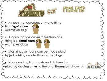 Fishing for Nouns:  A Mini Unit on Nouns