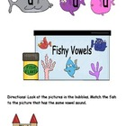 Fishy Vowels File Folder Game