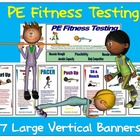 Fitnessgram Display Banners: 6 Large Vertical PE Banners