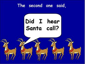 Five Christmas Reindeer-  Kindergarten Shared Reading PowerPoint