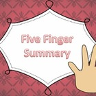Five Finger Summary PPT