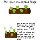 Five Green and Speckled Frogs book