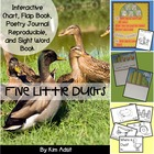 Five Little Ducks - Interactive Chart and Sight Word Reader
