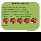 Five Little Ladybugs - Song Chart
