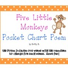 Five Little Monkeys Pocket Chart Poem