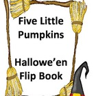 Five Little Pumpkins Flip Book - Freebie