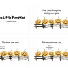 Five Little Pumpkins Slideshow Style Movies IWB/iPod Hallo