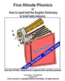 Five Minute Phonics - How to spell the 1/2 the English Dictionary