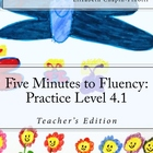 Five Minutes to Fluency Practice Level 4.1: Common Core St