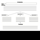 Five Paragraph Essay Organizer