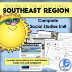 Five Regions of the United States: Southeast Region Complete Unit
