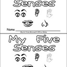 Five Senses Emergent Reader for Kindergarten- Science
