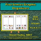 Five Senses Graphic Organizers &amp; Writing Prompts