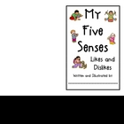 Five Senses- Likes and Dislikes Booklet