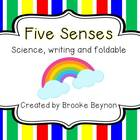 Five Senses - Science, writing and foldable